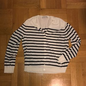 Loft striped cardigan